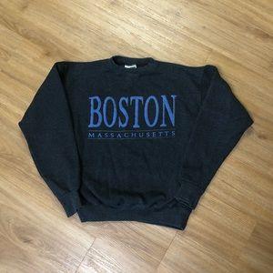 Vintage 80's Boston Massachusetts Crewneck Sweater